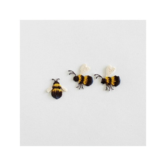 Check & Stripe Applique Animal - Bee