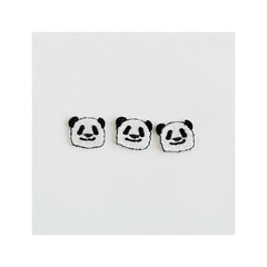 Check & Stripe Applique Animal - Panda