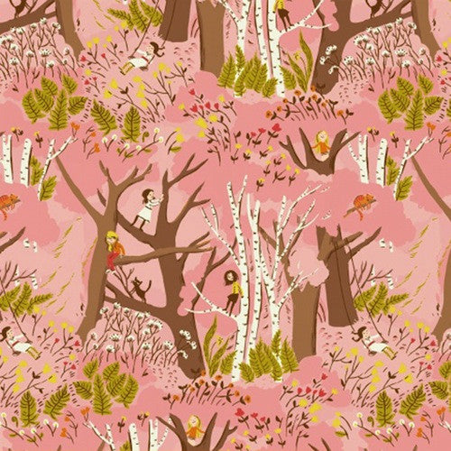Tiger Lily Collection - Climbing Trees (pink)