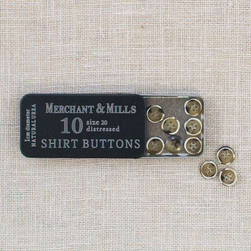 Merchant & Mills - Shirt Buttons in a Tin - Assorted