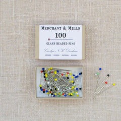 Merchant & Mills Glass Headed Pins (100)