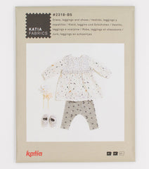 Katia Fabrics Sweatshirt Blouse, Leggings with Feet & Hat (2318-B6)