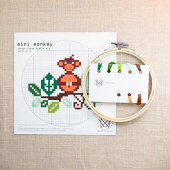 Diana Watters Handmade - Mini Monkey Cross Stitch Kit