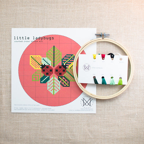 Diana Watters Handmade - Little Ladybug Cross Stitch Kit