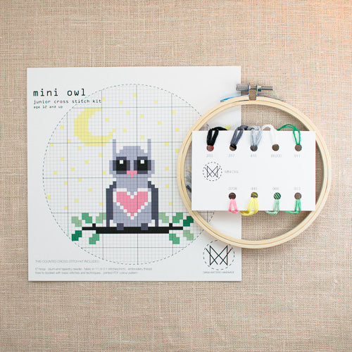 Diana Watters Handmade - Mini Owl Cross Stitch Kit