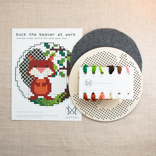 Diana Watters Handmade - Buck the Beaver at Work kit