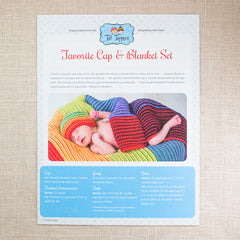 Tot Toppers Pattern - Favorute Cap & Blanket Set