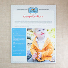 Tot Toppers Pattern - Gramps Cardigan