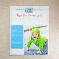 Tot Toppers Pattern - Sugar Bear Hooded Cardi