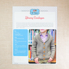 Tot Toppers Pattern - Library Cardigan