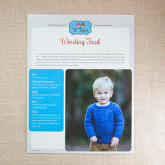 Tot Toppers Pattern - Winding Trail