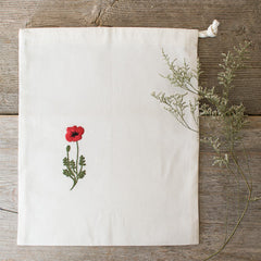 Embroidered Drawstring Bag - C