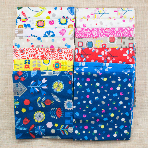 Hann's House Fat Quarter Bundle - 14pcs