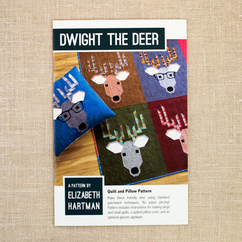 Elizabeth Hartman - Dwight the Deer Quilt & Pillow