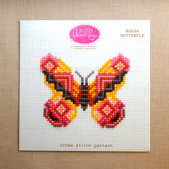 Bossa Butterfly Cross Stitch Pattern