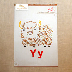 Y - Yak Embroidery Pattern