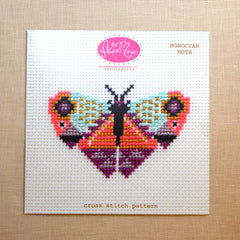 Morroccan Moth Cross Stitch Pattern