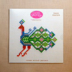 Proud Peacock Cross Stitch Pattern