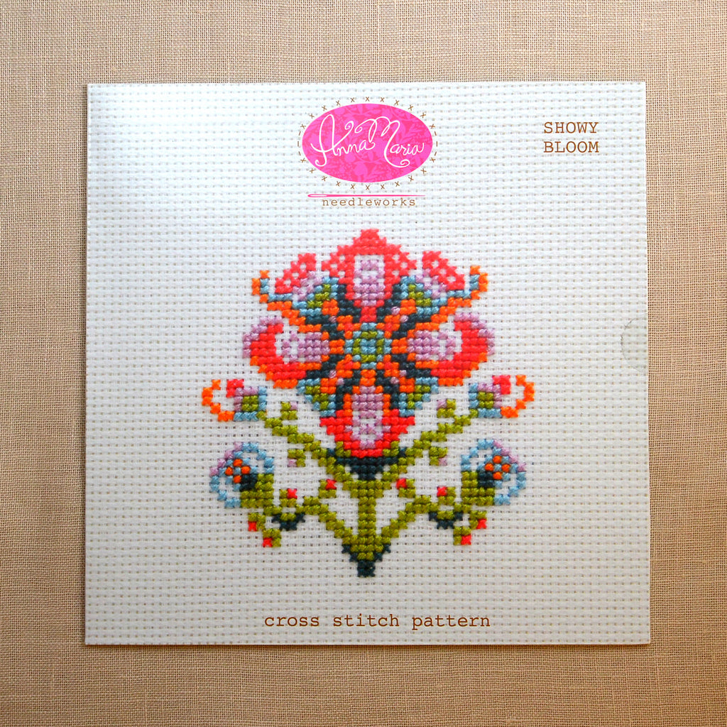 Showy Bloom Cross Stitch Pattern