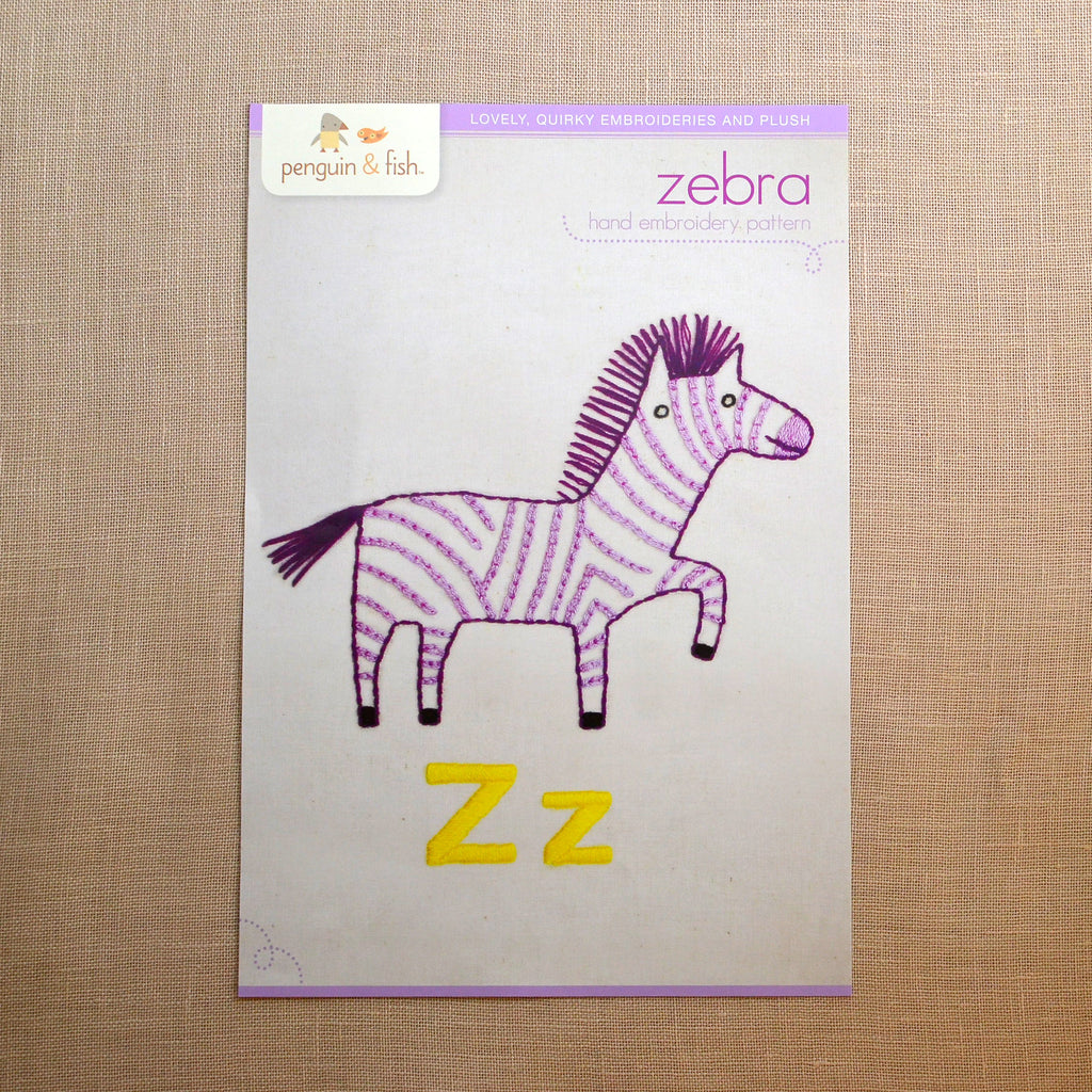 Z - Zebra Embroidery Pattern