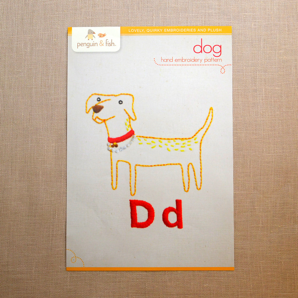 D - Dog Embroidery Pattern