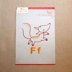F - Fox Embroidery Pattern