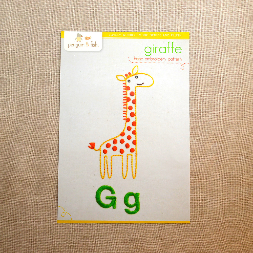 G - Giraffe Embroidery Pattern