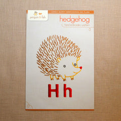 H - Hedgehog Embroidery Pattern