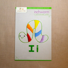 I - Inchworm Embroidery Pattern