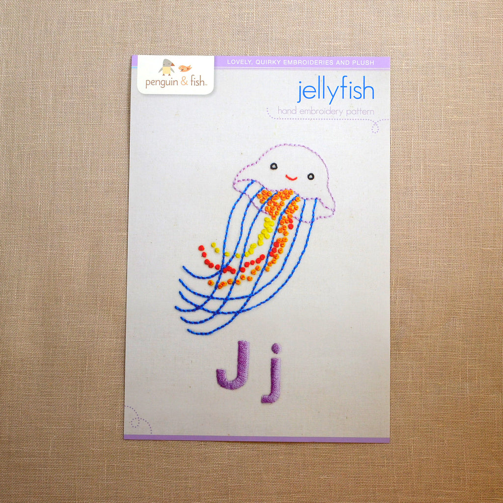 J - Jellyfish Embroidery Pattern