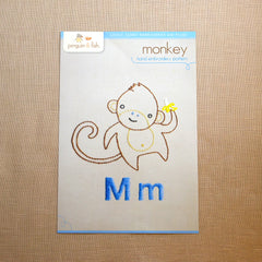 M - Monkey Embroidery Pattern