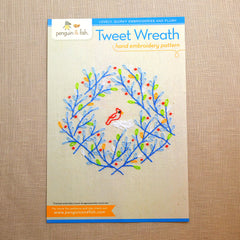 Tweet Wreath Embroidery Pattern