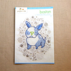 Boston Puppy Embroidery Pattern