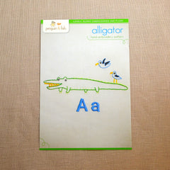 A - Alligator Embroidery Pattern