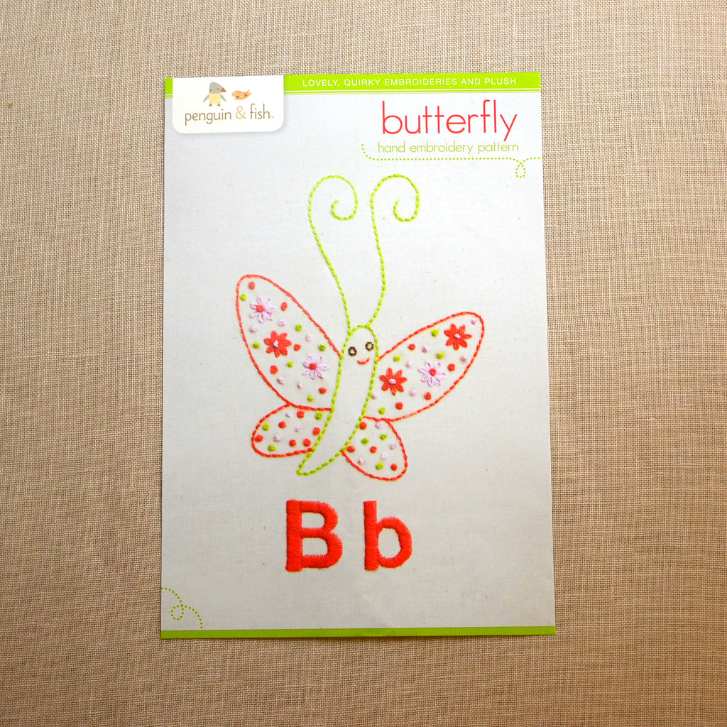 B - Butterfly Embroidery Pattern