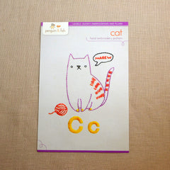 C - Cat Embroidery Pattern