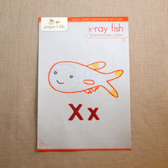 X - X-ray Fish Embroidery Pattern