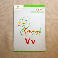 V - Viper Embroidery Pattern