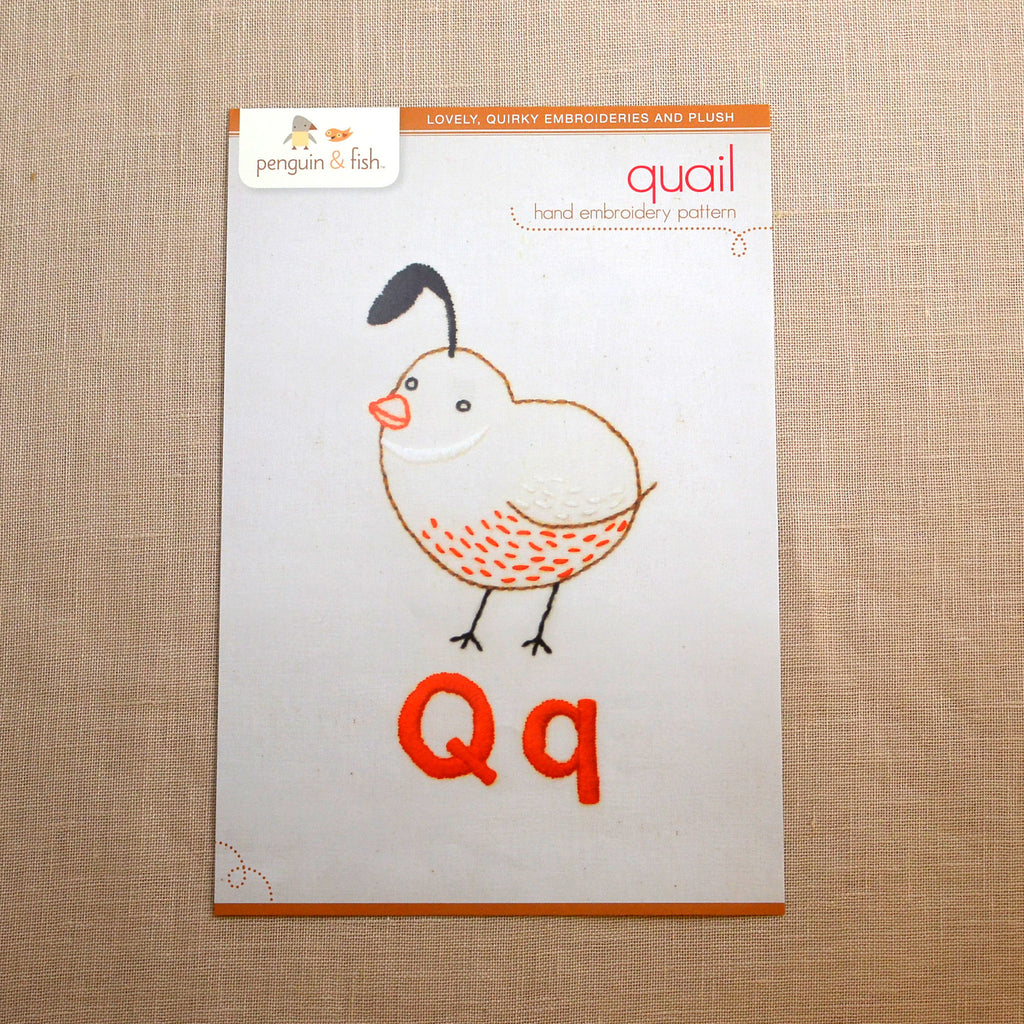 Q - Quail Embroidery Pattern