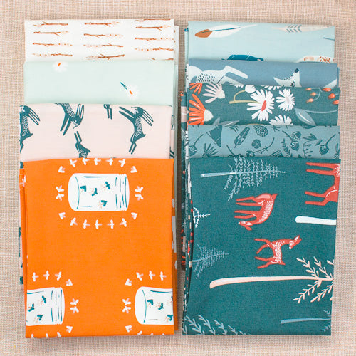 Campsite Fat Quarter Bundle / 9 pcs