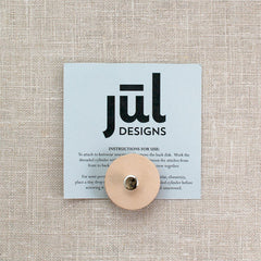 JUL Naked Leather Pedestal Buttons
