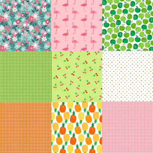 Fruity Friends Fat Quarter Bundle / 13 pcs