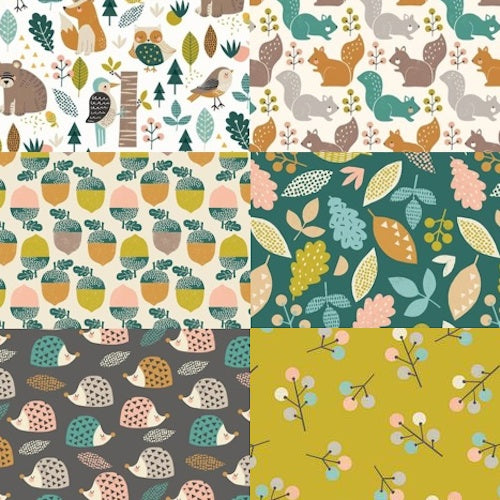 Harvestwood Half Yard Bundle / 6 pcs