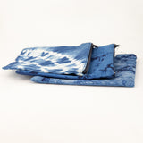 Indigo Dyed Zippered Pouch