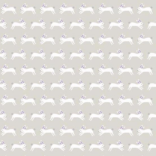 Forest Talk - Jumping Rabbits Silver 8487GC