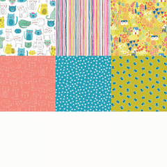 Kitty Fat Quarter Bundle / 6 pcs
