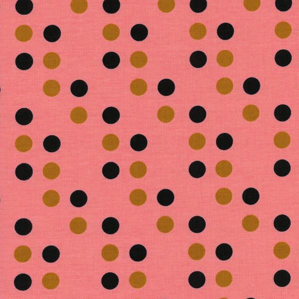 Cotton + Steel Lucky Strikes - Dime Store Dot (coral)
