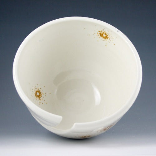 Yarn Bowl - Gold Linework