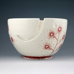 Yarn Bowl - Red Linework