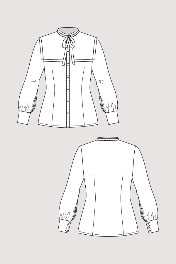 Named Clothing - Madeleine Bow-Tie Blouse